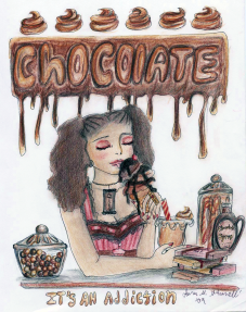 """Chocolate Addiction"" Colored Pencil"